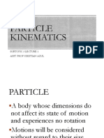 Lec 3.1 Kinematics of Particle