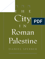 Daniel Sperber, The City in Roman Palestine