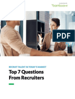 Top 7 Questions From Recruiters