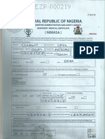 Clement Medical Certificate (NIMASA)