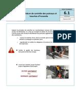 Procédure de controles des poteaux incendie