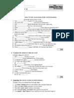 Exam A2.2 Worksheet (Summer)