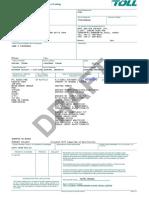 Bill of Lading Toll - TTPE3958060