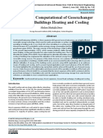 Mathematical Computational of Geoexchanger System for Buildings Heating and Cooling