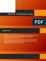 Transfer to Definitive Care Eca