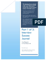 Part 1 Interview Success Journal