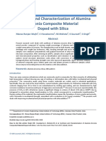 Synthesis and Characterization of Alumina Zirconia Composite Material Doped with Silica