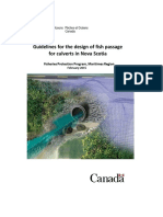 Guidelines for the Design of Fish Passage Nova Scotia