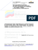 CONFIGURACIÓN DEL PERFIL TRANSCOMPLEJO DE LA GERENCIA EDUCATIVA EN INSTITUCIONES VISTAS COMO ORGANIZACIONES QUE APRENDEN, TOMANDO EN CONSIDERACIÓN POSTULADOS TEÓRICOS SUGERIDOS POR CENAMEC Y EL PLAN DE LA PATRIA 2013 – 2019.Msc Ina p Mariño Muñoz Ambiente 2 Facilitadora Nancy Padrón