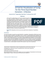 Application and Tool for Visualization of Turing Machine for the Three Equal Number Characters - A Review