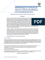 Six Sigma Methodology for Analysing & Removing Defects in Plastic Moulding by Injection Moulding Machine
