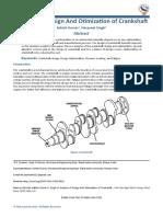 Analysis of Design And Otimization of Crankshaf