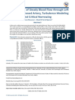 CFD Simulation of Steady Blood Flow through Left Subclavian Stenosed Artery, Turbulence Modeling and Critical Narrowingq