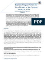 Identification of Impact Factors for Evaluation of Impact of Bus Transport Service in a City