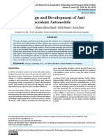 The Design and Development of Anti Accident Automobile