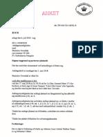 Udskrift af dombogen  (Søren Pape/Josue  Vasquez)