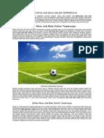 Daftar Situs Judi Bola Online Terpercaya