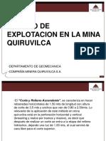CONTROLES GEOMECÁNICA - MINA QUIRUVILCA