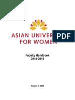 Faculty Handbook AY2018 2019 June 10 2018