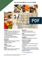 Menu de La Cuisine de Meme Moniq 14 au 21 Juillet