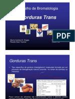 Gorduras Trans e Cis