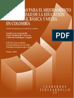 Mejoramiento de La Educación