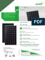 Ficha Tecnica Panel Solar Jinko280Wp