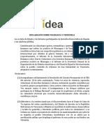 Pronunciamiento del Grupo Idea sobre situación en Nicaragua y Venezuela 2018
