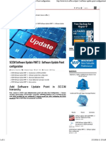 SCCM Software Update PART 2 – Software Update Point Configuration