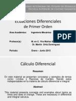 Ecuaciones Diferenciales de 1er Orden