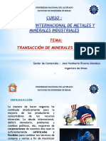 3. Tecnicas de Transacción de Minerales y Metales