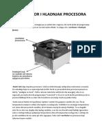Ventilator i hladnjak procesora