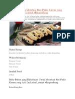Resep Kue Pukis Kismis Coklat Yang Nikmat Dan Lembut Serta Mengembang