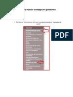 Guía Para Mandar Mensajes en Plataforma