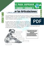 Ficha de Que Son Las Articulaciones Para Tercero de Primaria (1) (Reparado)