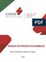 Manejo de Producto Químico (Matriz de Compatibilidad)