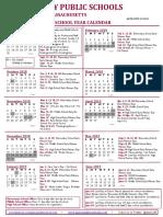 Quincy 2018-19 School Calendar