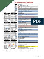 2018-19 Walpole Calendar