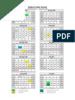 2018-19 Dedham School Year Calendar