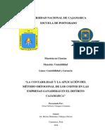 La Contabilidad y La Aplicación Del Método Ortogonal de Los Costos en Las Empresas Ganaderas en El Distrito Cajamarca - C_1