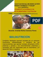 PPT MALNUTRICIÓN-DEFICIENCIA