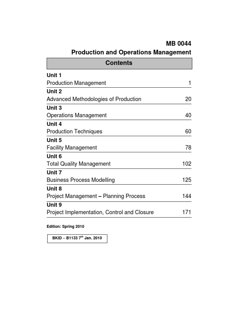 Mb0044 production operations management operations management mb0044 production operations management operations management business process fandeluxe Images