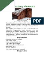Torta de Coco y Chocolate