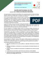 Declaracion Institucional Sobre La VI Mesa de Dialogo. PDF