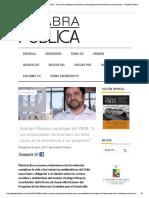 Conflictos Territoriales - Entrevista Rodrigo Márquez (PNUD) - 08.05.2017