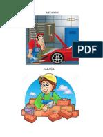 2 Profesiones y Oficios Por Pagina Animados