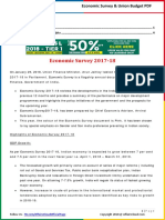 Economic Survey 2018 & Union Budget 2018-19