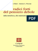 Gianfranco Basti, Antonio L. Perrone Le Radici forti del pensiero debole