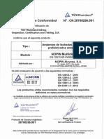 Certificado Andamios Normados 2017