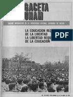 Gaceta unam 1968